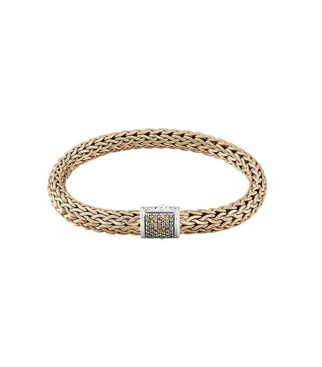 John Hardy Classic Chain Diamond Pave Chain Bracelet