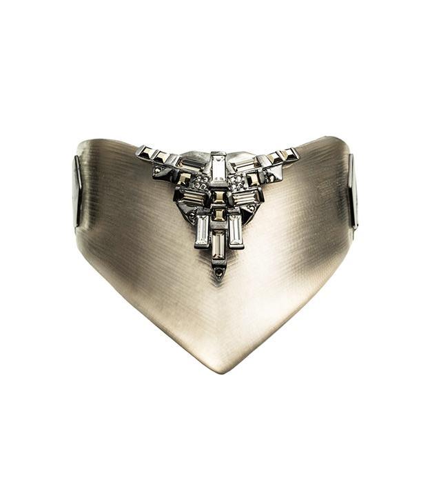 Alexis Bittar Cubist Patchwork Shield Hinged Bracelet
