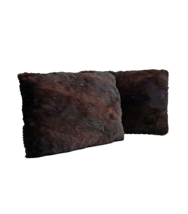 1st Dibs Vintage Mink Fur Rectangular Pillows