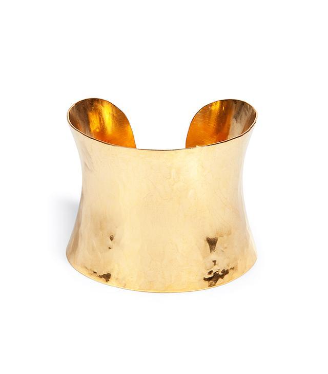 Hervé Van Der Straeten Hammered Gold-Plated Brass Cuff