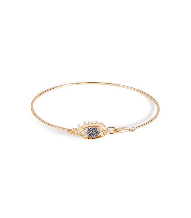 Delfina Delettrez Gold Bracelet with Diamond and Sapphire Eye