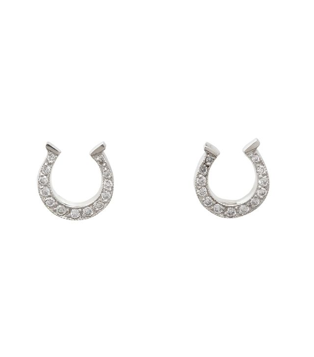 Cathy Waterman Diamond Small Horseshoe Stud Earrings