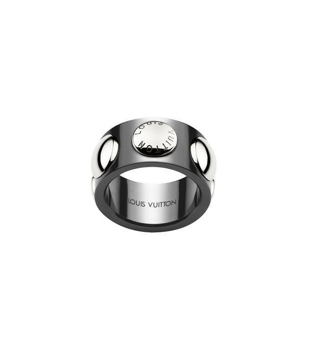 Louis Vuitton Large Clous Ring in Ceramic and Platinum