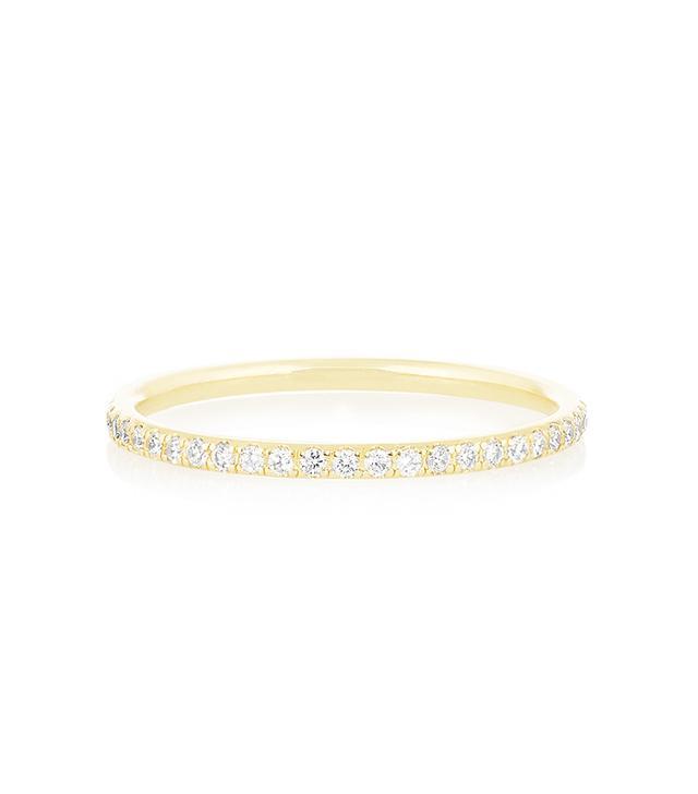 Ileana Makri 18-karat Gold Diamond Eternity Thread Ring