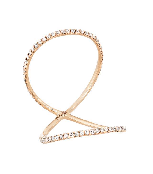 Anita Ko Double Eternity 18-Karat Rose Gold Diamond Ring