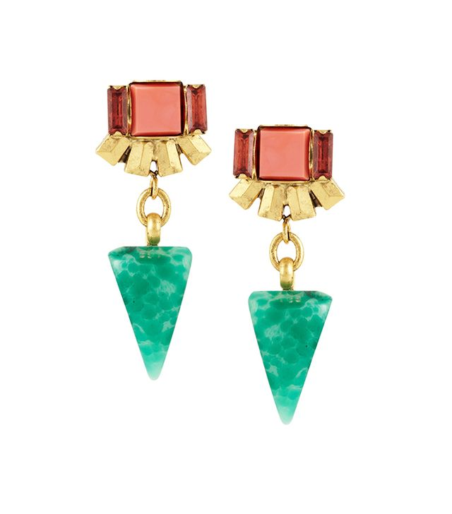 Elizabeth Cole Gold-Plated, Crystal and Stone Earrings