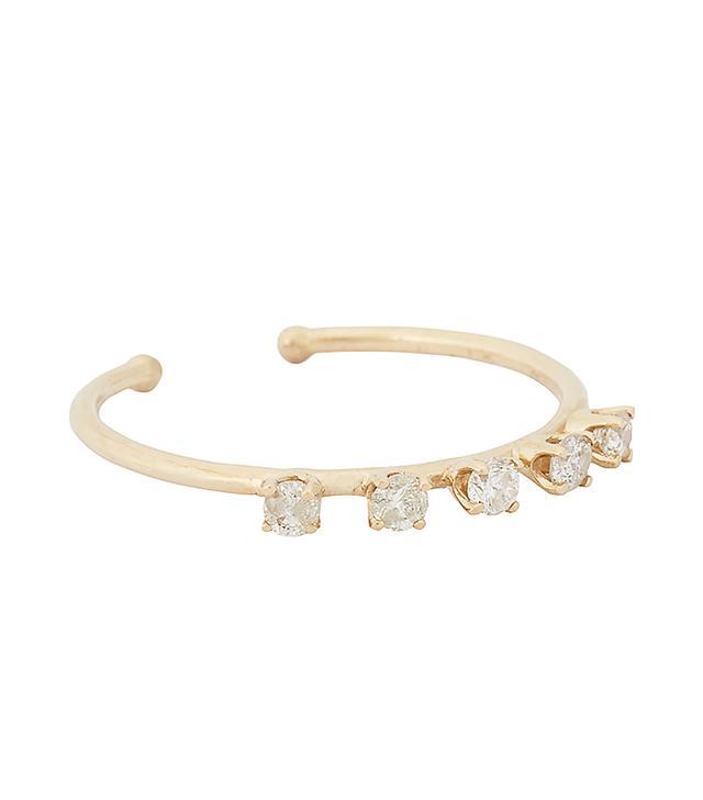 Loren Stewart Diamond & Gold Open-Band Ring