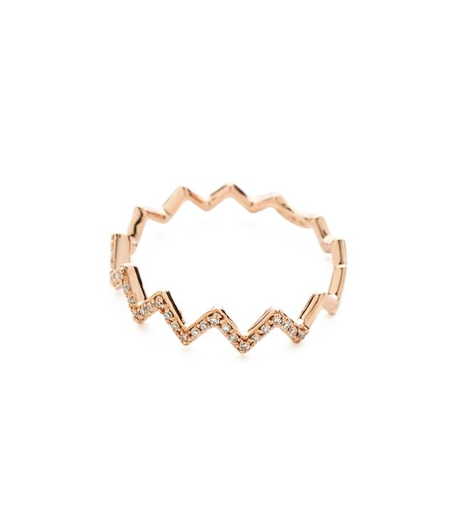 EF Collection Diamond Zig Zag Ring