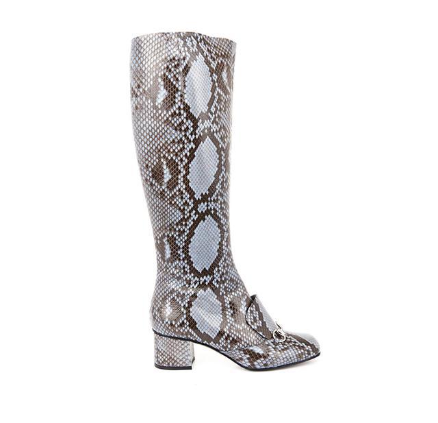 Gucci Lillian Horsebit Python Boots
