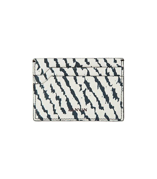 Lanvin Grey & Black Leather Card Holder