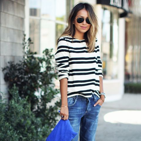 Outfit Combo: Jeans + Striped T-Shirt