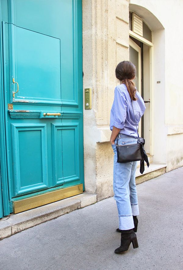 Outfit Combo: Jeans + Blue Button-Down Shirt