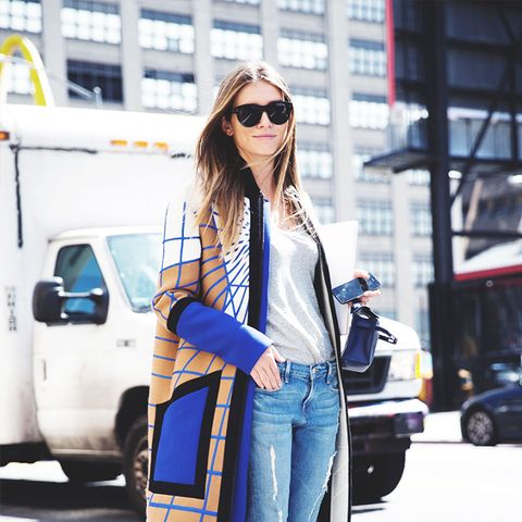 Outfit Combo: Jeans + Printed Coat