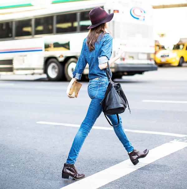 Outfit Combo: Jeans + Denim Button-Down Shirt