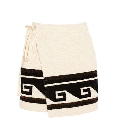Sienna Knitted Wrap Mini Skirt