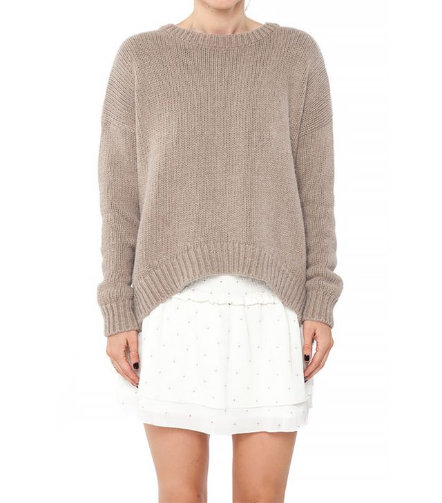 Anine Bing Knitted Sweater in Sand