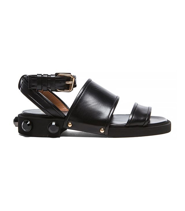 Givenchy Viktor Leather Sandals in Black