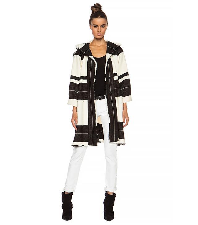 Isabel Marant Adil Blanket Wool-Blend Jacket in Ecru