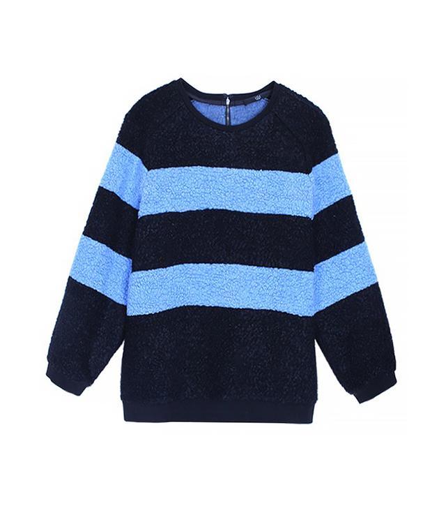 Tibi Panda Stripe Sweatshirt
