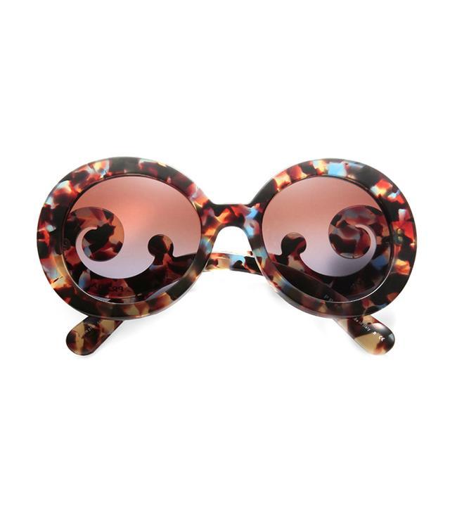 Prada Oversized Baroque Round Sunglasses