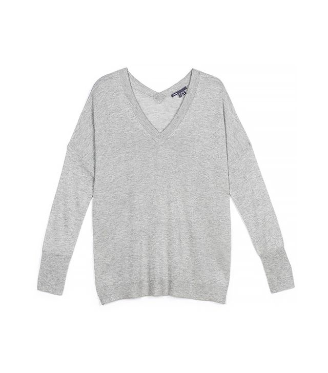 Vince Double Trim V-Neck Sweater