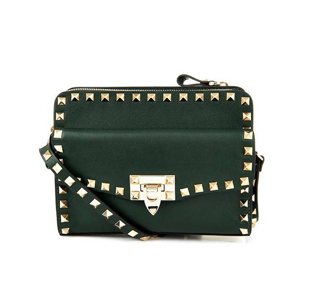 Valentino Rockstud Removable-Pouch Cross-Body Bag