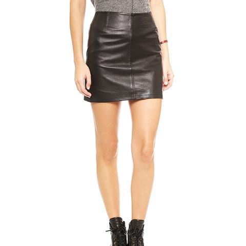 Eloy Leather Miniskirt