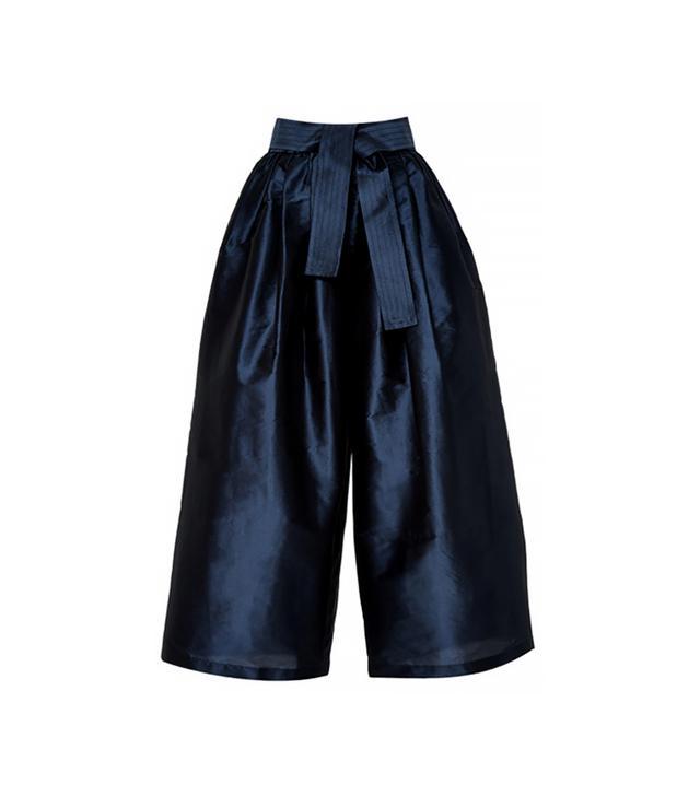 Tome Cropped Wide-Leg Taffeta Pants