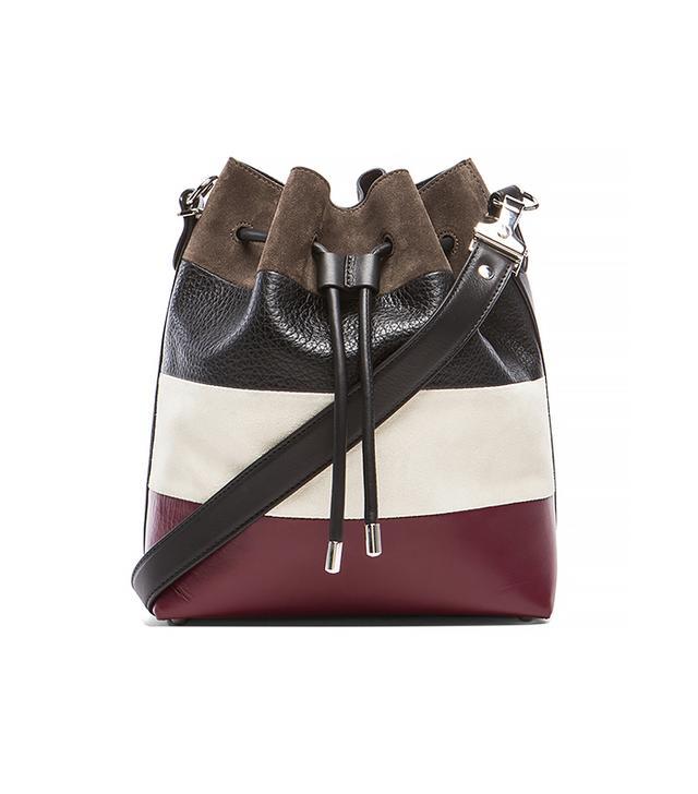 Proenza Schouler Medium Suede & Leather Bucket Bag in Multi