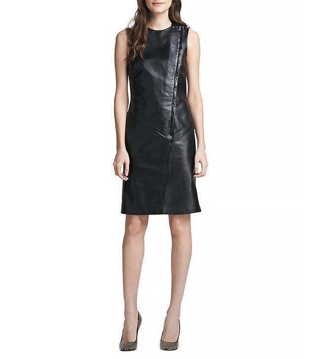 Theory Kuval Sleeveless Leather Dress