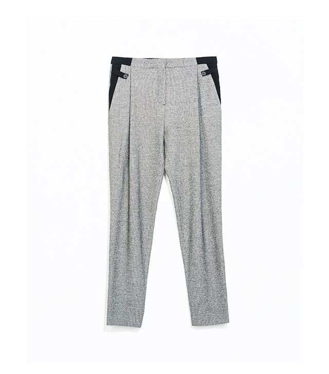 Zara Mixed Fabric Waist Trousers