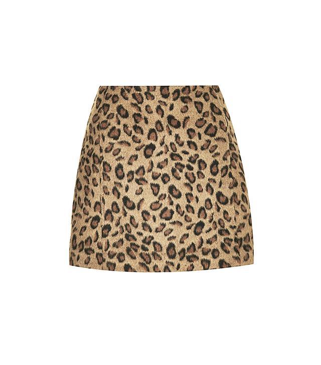 Topshop Leopard Print Pelmet Skirt