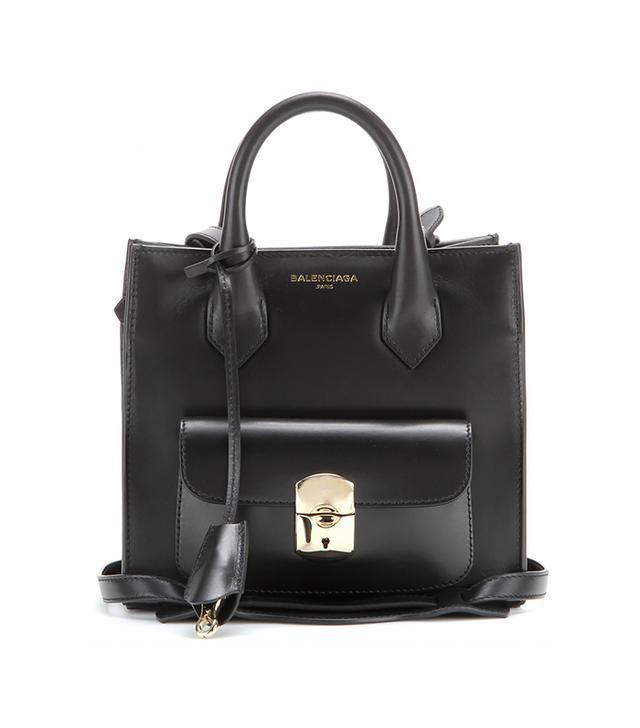 Balenciaga Padlock Mini All Afternoon Leather Tote