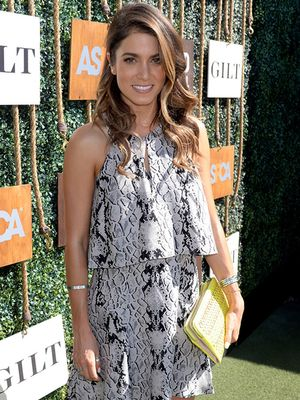 Spotted: Nikki Reed in the Most Flattering Snake-Print Dress