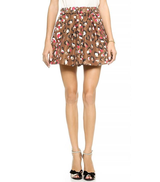 Red Valentino Pop Leopard Print Shorts