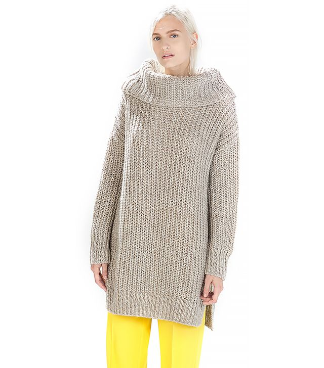Zara Twist-Knit Turtleneck Sweater