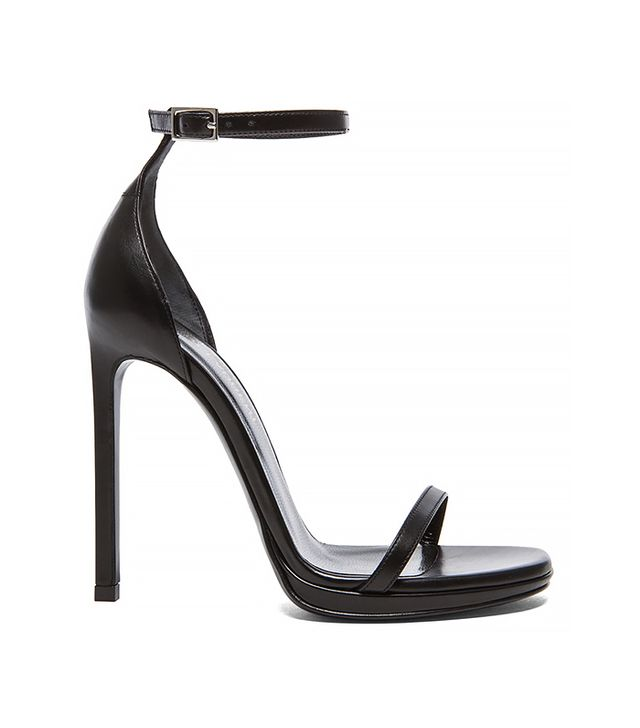 Saint Laurent Jane Leather Ankle Strap Sandals