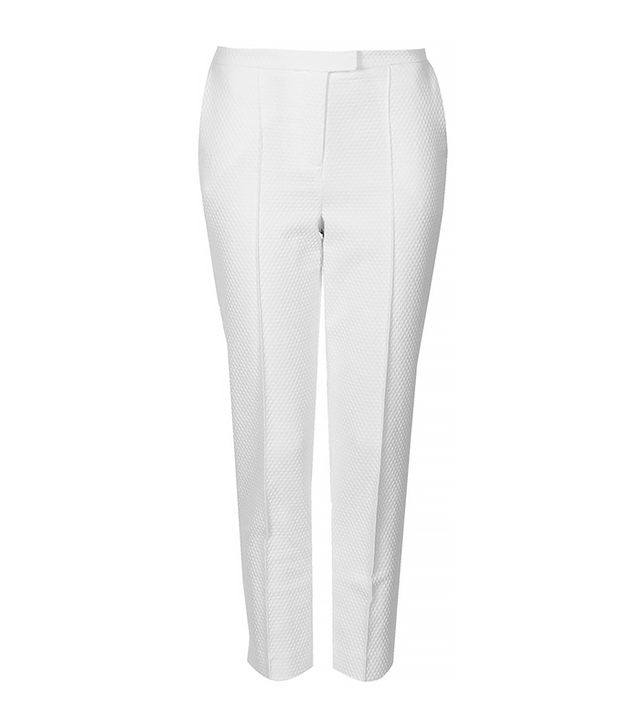 Topshop Textured Cigarette Trousers