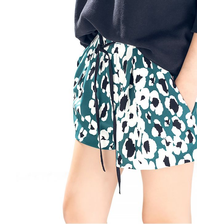 Zara Animal-Print Shorts
