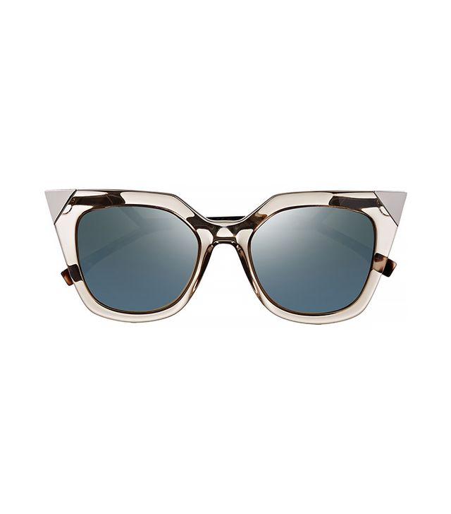 Fendi Embellished Cat-Eye Acetate Mirrored Sunglasses