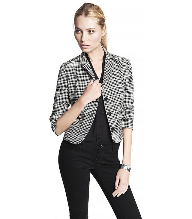 Express Graphic Plaid Jacket