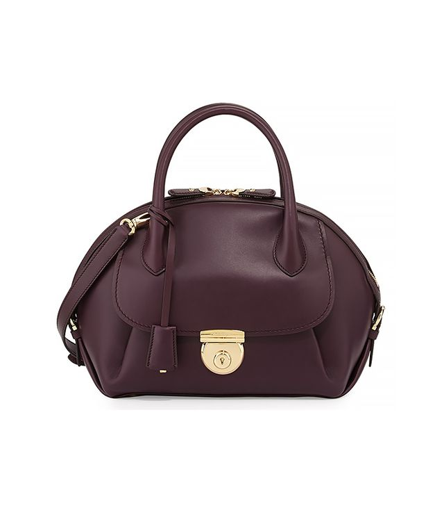 Salvatore Ferragamo Fiamma Domed Satchel Bag