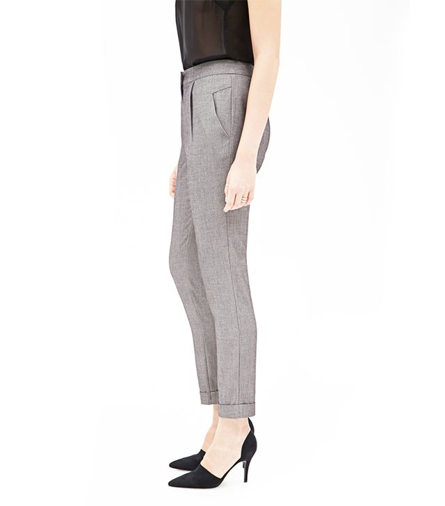 Forever 21 Pleated Cuffed Slim Trousers