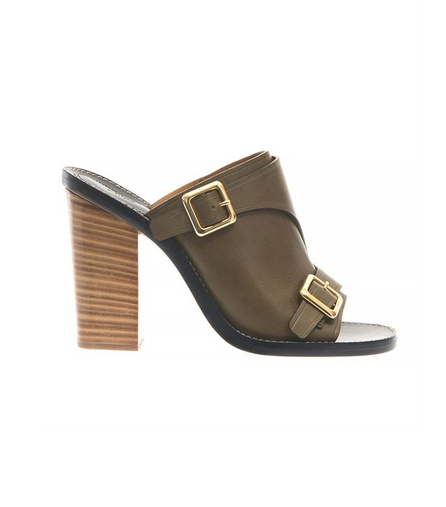 Chloé Buckled Leather Mule