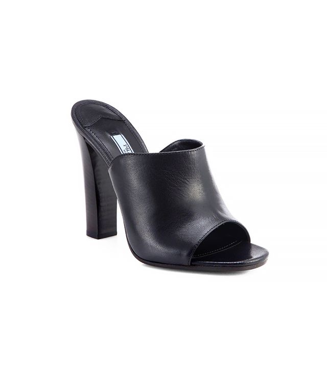 Prada Open-Toe Leather Mules