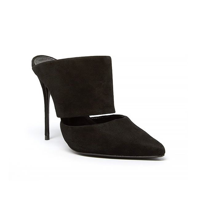 Schutz Pointed Toe Slide Mules