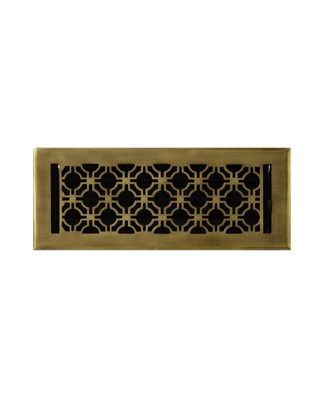 Signature Hardware Geometric Solid Brass Floor Register