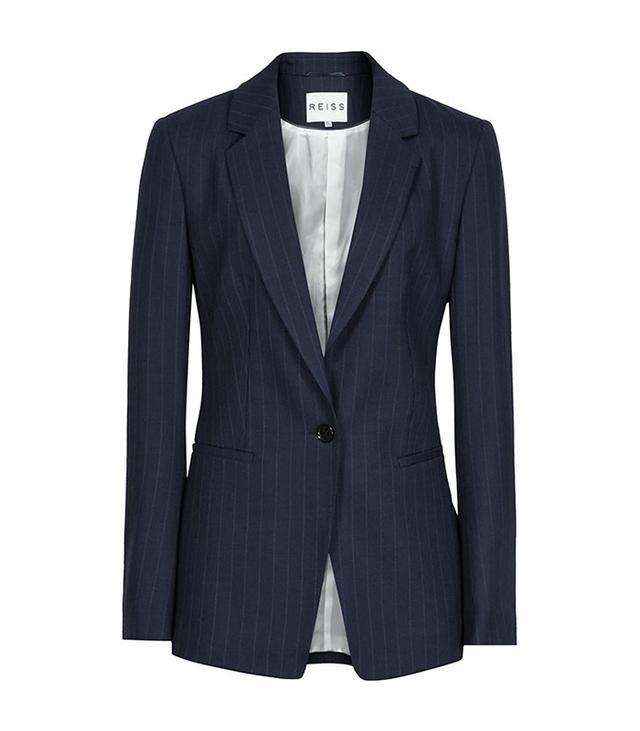 Reiss Pinstripe Tailored Blazer
