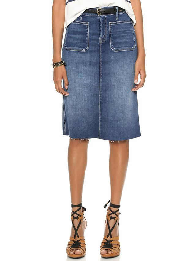 Mother High-Waisted Patchie Skirt