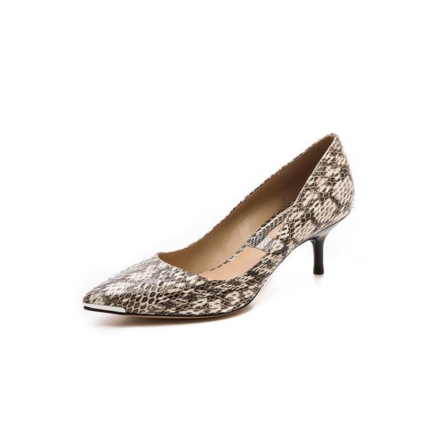 Michael Kors Collection Trisha Snakeskin Kitten Heels